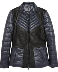 Francis Leon - Leather And Quilted Shell Jacket - Lyst