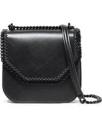 Stella McCartney - Woman Falabella Box Chain-trimmed Faux Leather Shoulder Bag Black - Lyst