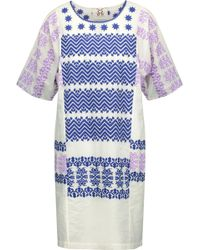 Figue - Luz Embroidered Cotton-broadcloth Mini Dress - Lyst