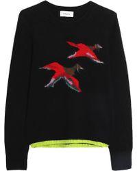 COACH - Intarsia-knit Cashmere-blend Jumper - Lyst