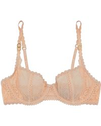 Stella McCartney - Mesh And Lace Underwired Bra - Lyst