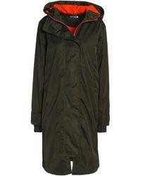 Ganni - Shell Hooded Coat - Lyst