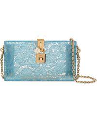 Dolce & Gabbana - Woman Lace Perspex Clutch Azure - Lyst