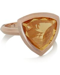 Katie Rowland - Circe Trillion Rose Gold-tone Ring