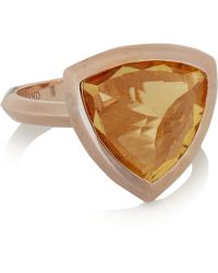 Katie Rowland - Circe Trillion Rose Gold-tone Ring - Lyst