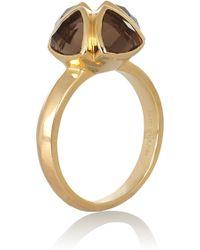 Katie Rowland | Salome Gold-tone Quartz Ring | Lyst