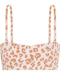 Prism - Hossegor Leopard-print Bandeau Bikini Top - Lyst
