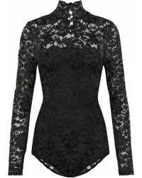 Ganni - Lace Bodysuit - Lyst