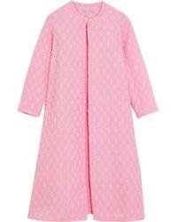 Emilia Wickstead - Helen Oversized Cotton-blend Cloqué Coat - Lyst
