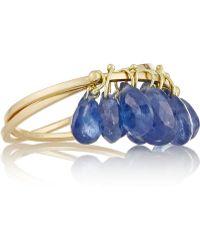 Inez & Vinoodh - 18-karat Gold Sapphire Interlinked Rings - Lyst
