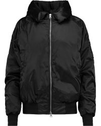 adidas Originals - Hooded Ruched Shell Bomber Jacket - Lyst