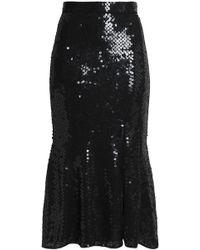 Rachel Gilbert - Fluted Sequined Gauze Midi Skirt - Lyst