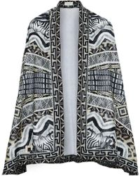 Camilla - Theory Printed Cotton-terry Cape - Lyst