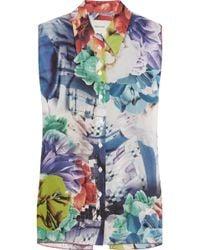 Teatum Jones - Amelia Printed Silk-crepe Shirt - Lyst