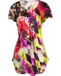 Teatum Jones - Hansel Printed Silk-satin Top - Lyst