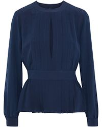 0cf7c2766b369 Lyst - 3.1 Phillip Lim Embellished Pintucked Silk-chiffon Blouse in ...