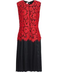 21bebf96a58 Marc Jacobs - Layered Corded Lace And Silk-satin Dress - Lyst