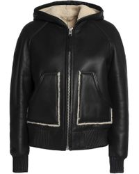 COACH - Shearling Hooded Jacket - Lyst