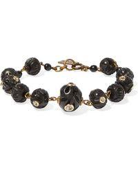 Isabel Marant | Burnished Gold-tone, Bone And Crystal Bracelet | Lyst