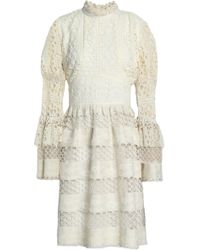 Anna Sui - Ruffle-trimmed Guipure Lace Dress - Lyst