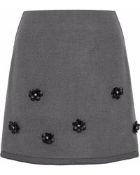Raoul - Embellished Felt Mini Skirt - Lyst
