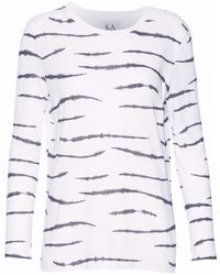 Zoe Karssen - Printed Cotton And Linen-blend T-shirt - Lyst