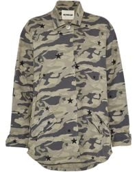 Monrow - Printed Cotton-twill Jacket - Lyst