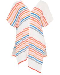 lemlem - Candace Asymmetric Striped Cotton-blend Gauze Coverup - Lyst