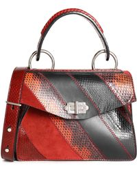 Proenza Schouler - Hava Panelled Ayers, Suede And Leather Shoulder Bag - Lyst