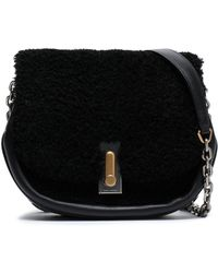Marc Jacobs - Shearling And Leather Shoulder Bag - Lyst