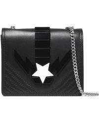 Just Cavalli - Appliquéd Leather Shoulder Bag - Lyst