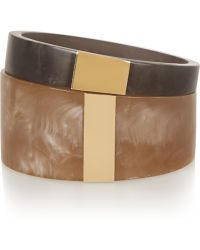 Isabel Marant | Set Of Two Resin And Gold-plated Cuffs | Lyst