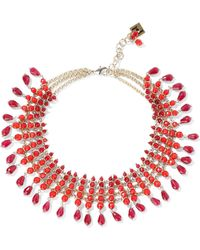 Rosantica Curry Gold-tone Beaded Necklace Claret