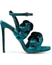 Marco De Vincenzo - Braided Velvet Sandals - Lyst