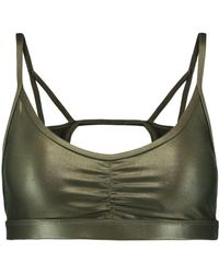Koral - Element Metallic Cutout Stretch Sports Bra - Lyst