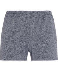 Prism - - Printed Stretch-jersey Shorts - Dark Grey - Lyst