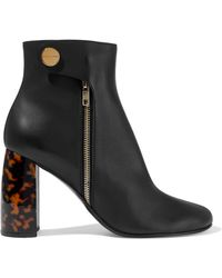 Stella McCartney - Woman Faux Leather Ankle Boots Black - Lyst