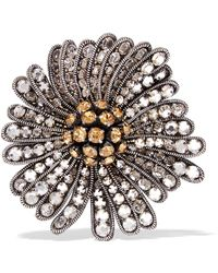 Issa - Daisy Crystal-embellished Corded Lace Brooch - Lyst