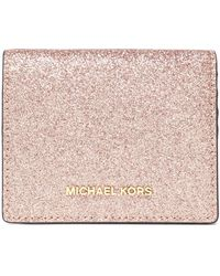 MICHAEL Michael Kors - Glittered Leather Wallet - Lyst