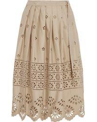 Sea - Embroidered Pleated Skirt - Lyst
