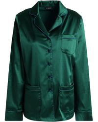 I.D Sarrieri - Silk-blend Satin Pajama Shirt - Lyst