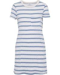 Splendid - Striped Jersey Mini Dress Sky Blue - Lyst