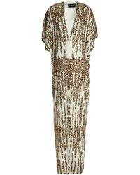 By Malene Birger - Sequined Crepe De Chine Gown - Lyst