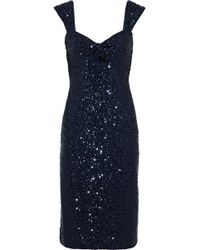 MILLY - Kim Twist-front Cutout Sequined Tulle Dress - Lyst