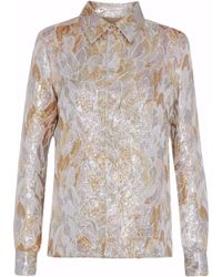 Vanessa Seward - Metallic Brocade Shirt - Lyst