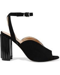Iris & Ink - Dolly Suede And Perspex Sandals - Lyst