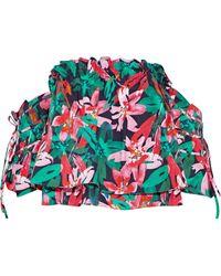 Marissa Webb - Leona Off-the-shoulder Floral-print Cotton-poplin Top - Lyst