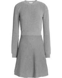 Maison Kitsuné - Fluted Wool-blend Mini Dress - Lyst