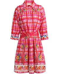 Peter Pilotto - Belted Printed Cotton-poplin Shirt Dress - Lyst