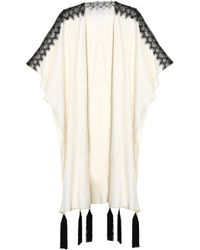 Vionnet - Lace-trimmed Tasselled Silk-blend Cape - Lyst